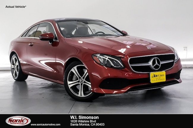 Certified Used 2018 Mercedes-Benz E-Class E 400  RWD Coupe Coupe in Santa Monica