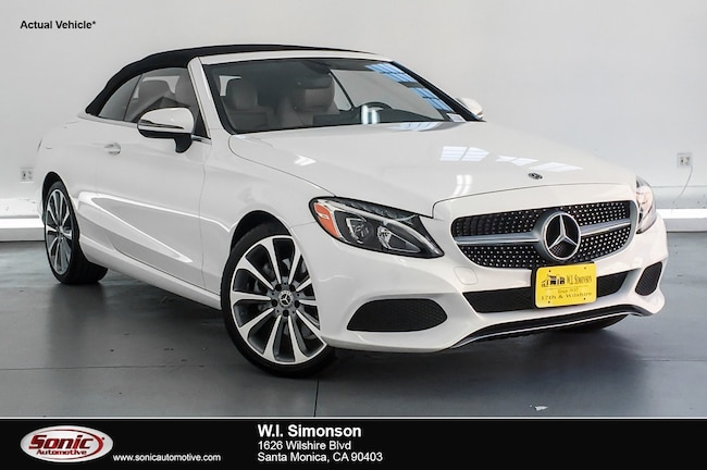 Certified Used 2018 Mercedes-Benz C-Class C 300  Cabriolet Cabriolet in Santa Monica