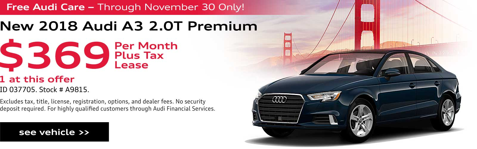 Lease Calculator Audi >> New Audi Specials In San Rafael At Audi Marin Serving San