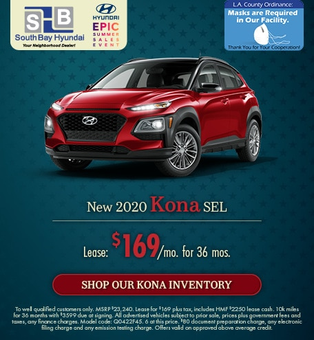 Mid-July Offer: 2020 Kona SEL Lease for $169/mo