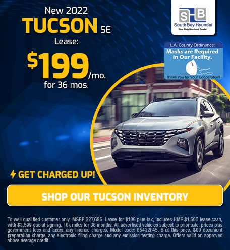 Charged-Up Lease: New 2022 Tucson SE for $199/mo