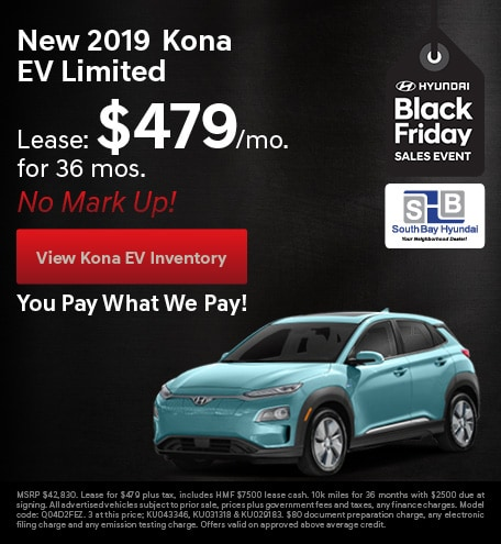 BLACK FRIDAY - New 2020 Kona EV Limited