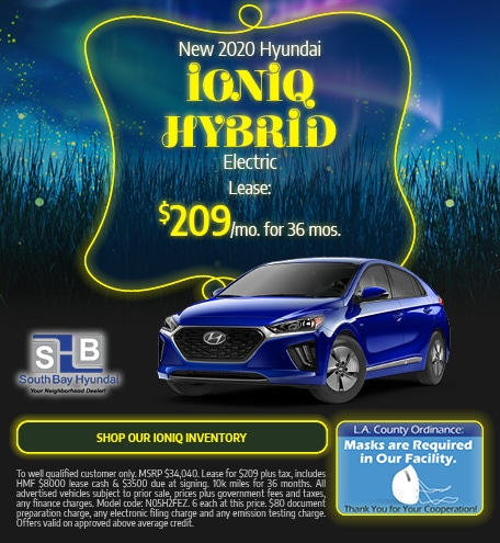 Mid-September Special: New 2020 Ioniq Hybrid Electric Lease $209/mo