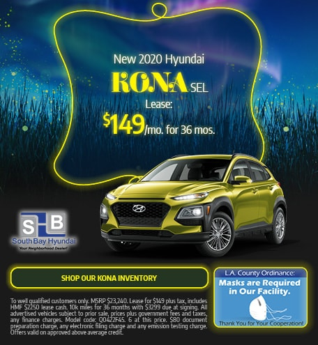 Mid-September Special: New 2020 Kona SEL Lease $149/mo