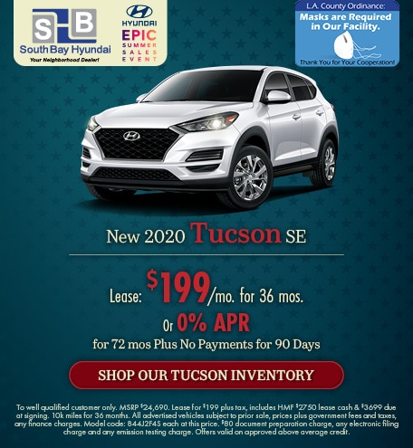 Mid-July Offer: 2020 Tucson SE Lease for $199/mo