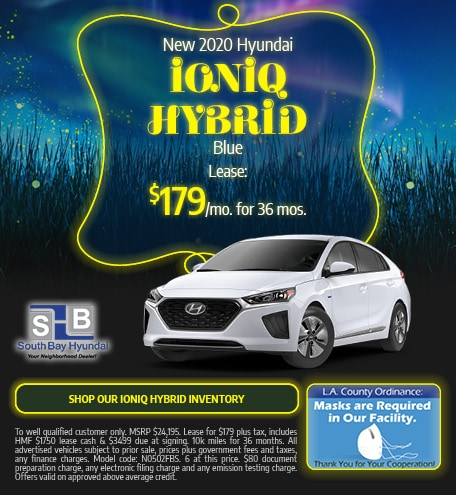 Mid-September Special: New 2020 Ioniq Hybrid Blue Lease $179/mo