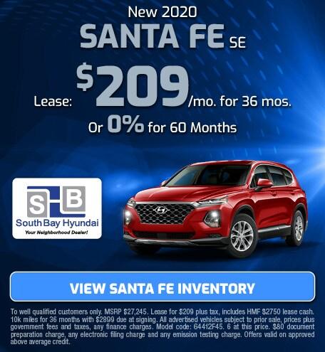 New 2020 Santa Fe SE