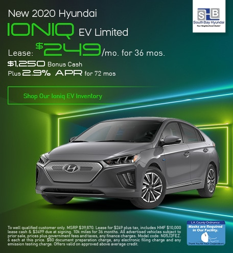 Late Oct Lease: 2020 Ionic EV Limited for $249/mo