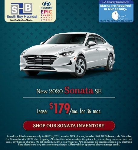 Mid-July Offer: 2020 Sonata SE Lease for $179/mo
