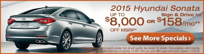 Hyundai Model Line-up, View New Specials