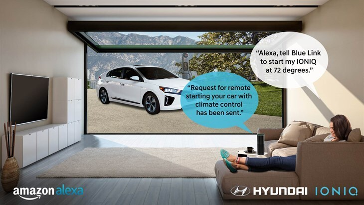 Controlling your Hyundai with Amazon Alexa