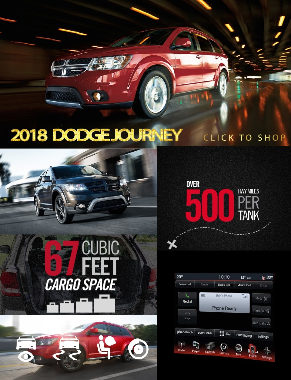 2018 dodge journey south chicago dodge chrysler jeep ram. Black Bedroom Furniture Sets. Home Design Ideas