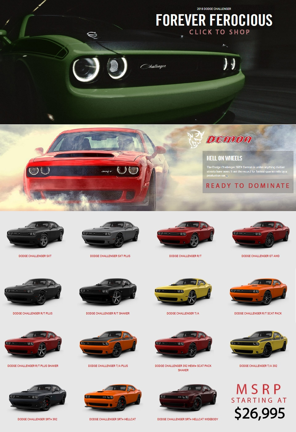 2018 dodge challenger south chicago dodge chrysler jeep ram. Black Bedroom Furniture Sets. Home Design Ideas