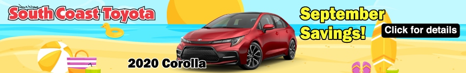 September Savings on Corolla