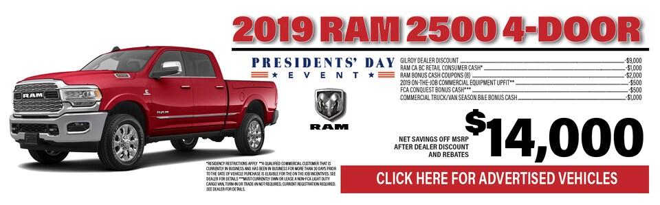 2019 Ram 2500 $14,000 Off