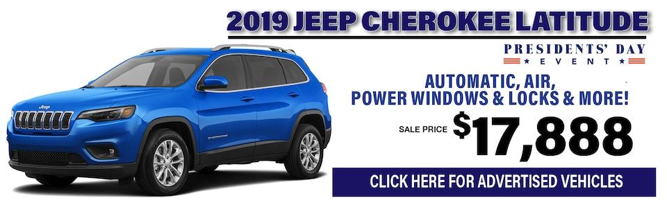 2019 Jeep Cherokee $17,888