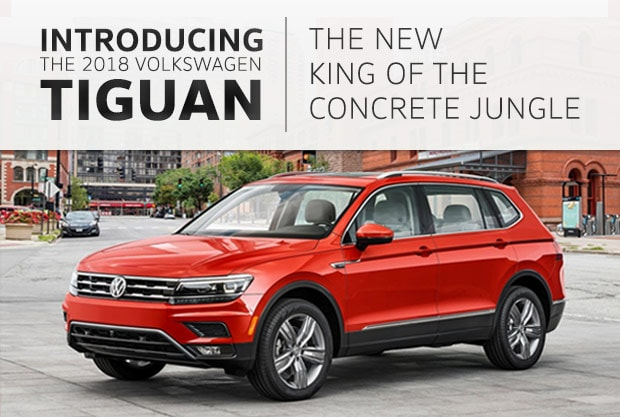 Newly redesigned 2018 Volkswagen Tiguan for sale, Southern Volkswagen Greenbrier, North Carolina]