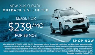 Lease a new 2019 Outback for $239/Month