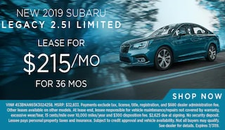 Lease a new 2019 Legacy for $215/Month