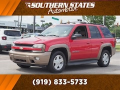 Bargain Used 2002 Chevrolet TrailBlazer SUV 1GNDS13S122237528 in Raleigh, NC