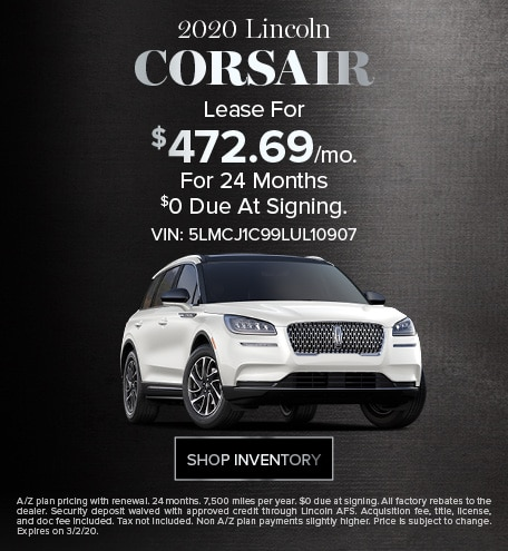 New 2020 Lincoln Corsair | Sign & Drive Lease Offer