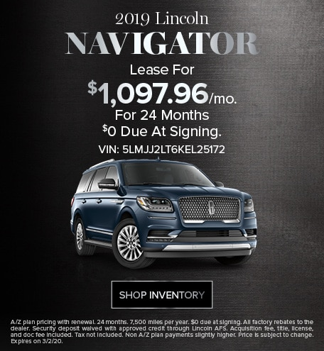 New 2019 Lincoln Navigator | Sign & Drive Lease Offer