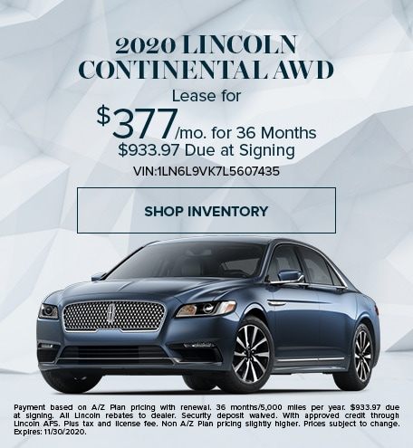 New 2020 Lincoln Continental   Lease
