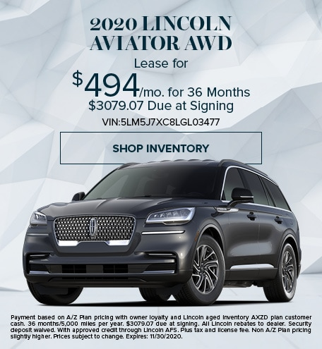New 2020 Lincoln Aviator   Lease