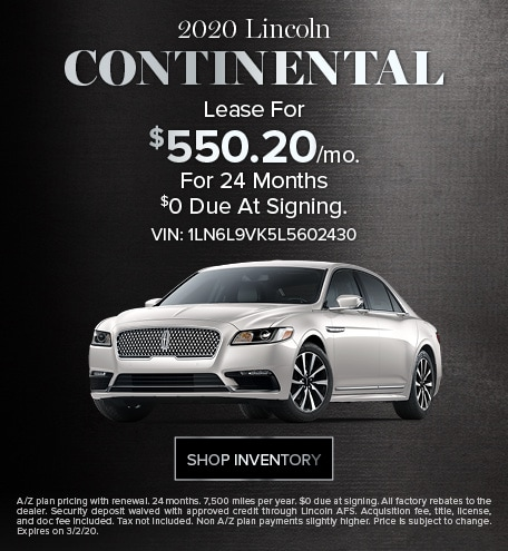 New 2020 Lincoln Continental | Sign & Drive Lease Offer