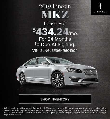 New 2019 Lincoln MKZ | Sign & Drive Lease Offer