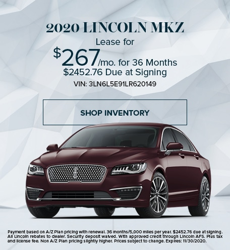 New 2020 Lincoln MKZ   Lease