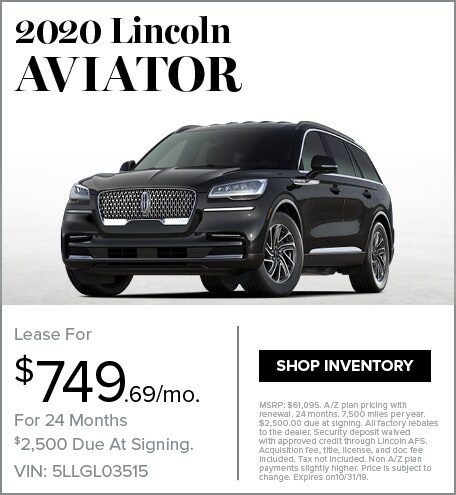 New 2020 Lincoln Aviator | Lease
