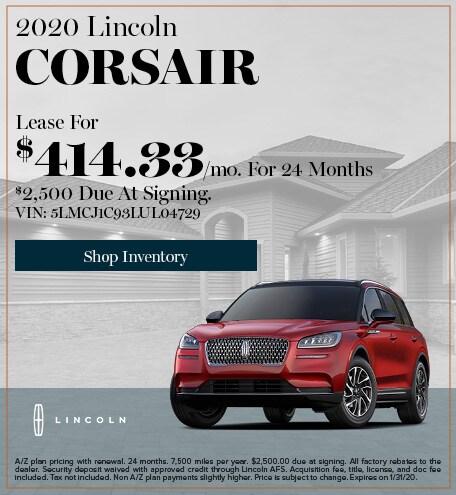 New 2020 Lincoln Corsair   Lease
