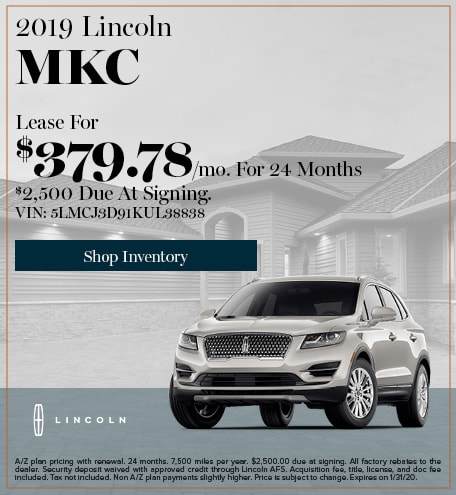 New 2019 Lincoln MKC   Lease