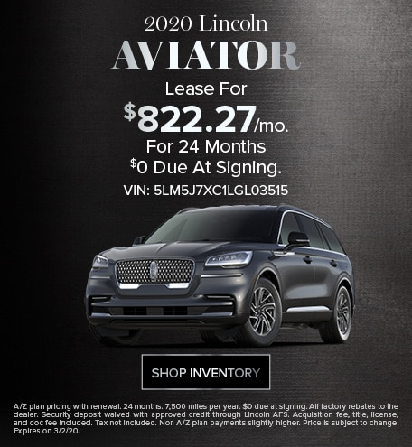 New 2020 Lincoln Aviator | Sign & Drive Lease Offer