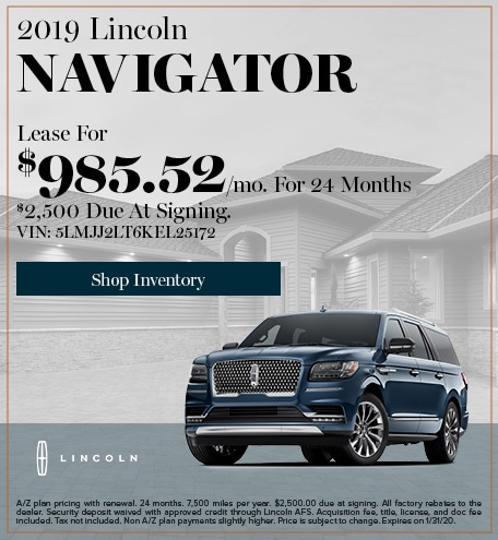 New 2019 Lincoln Navigator   Lease