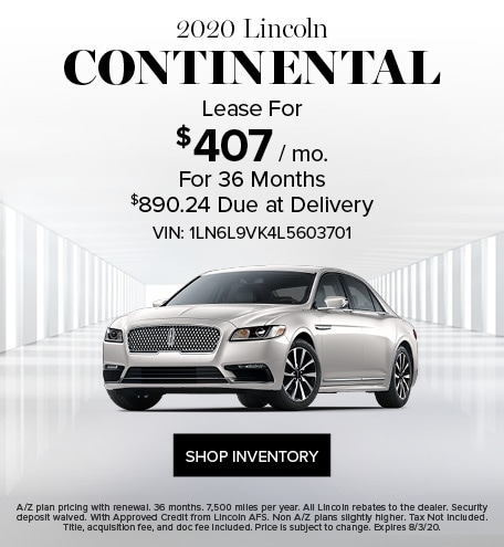 New 2020 Lincoln Continental |  Lease Offer