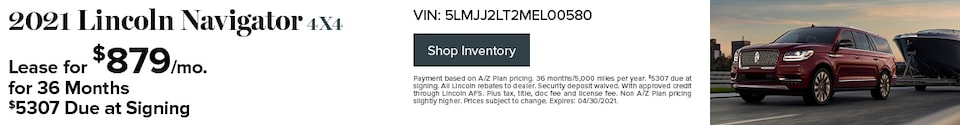 2021 Lincoln Navigator 4x4- April Offer