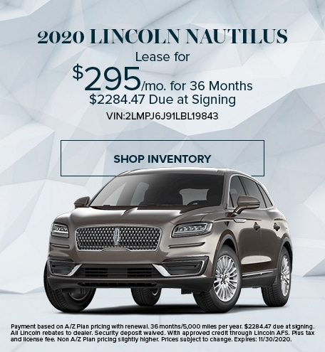 New 2020 Lincoln Nautilus   Lease