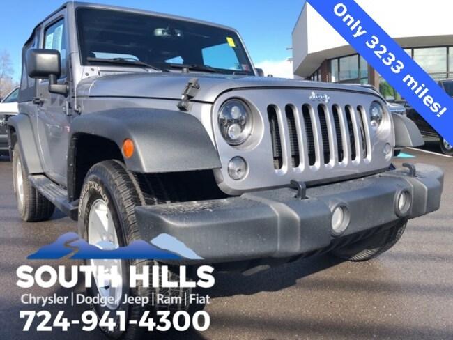2017 Jeep Wrangler JK Sport 4x4 SUV for sale near Pittsburgh