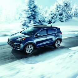 2020 Kia Sportage in snow