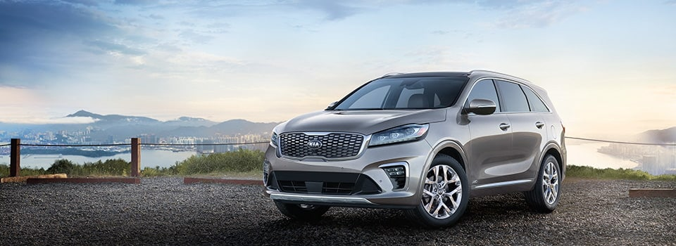 2019 Kia Sorento parked outside city