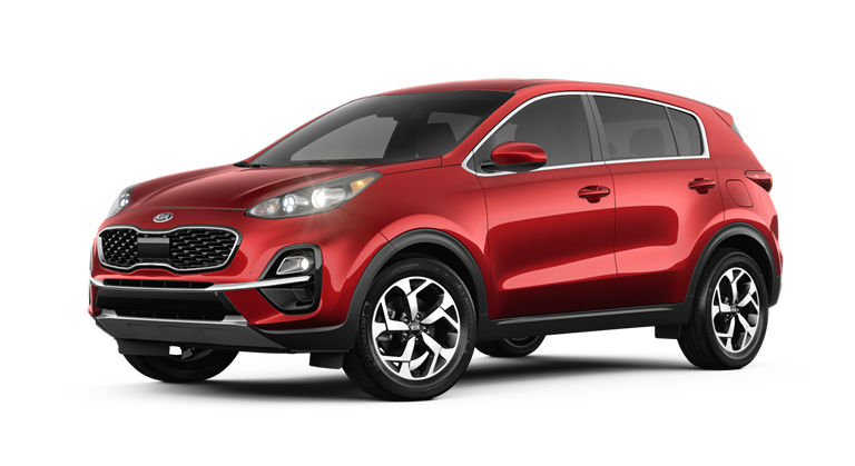 Red 2020 Kia Sportage LX