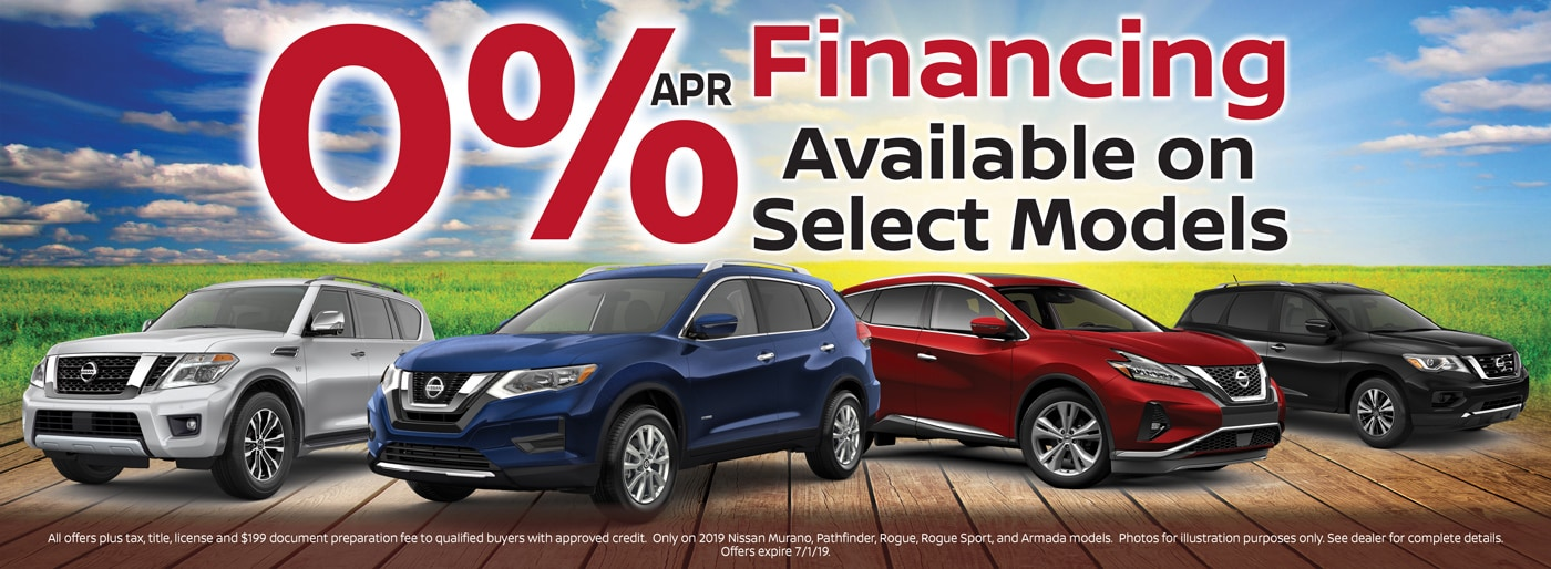 0% APR on Select Models