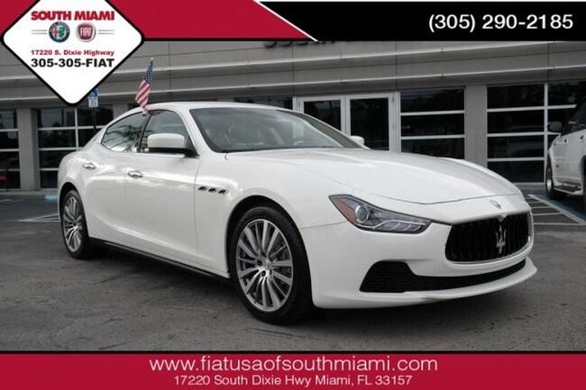Used 2015 Maserati Ghibli Luxury Sedan for sale in Miami, FL at South Miami FIAT