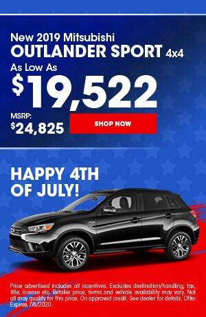 2019 Mitsubishi Outlander Sport - July Offer