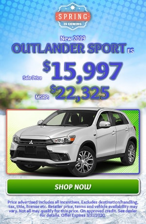 2019 Mitsubishi Outlander Sport - March Offer