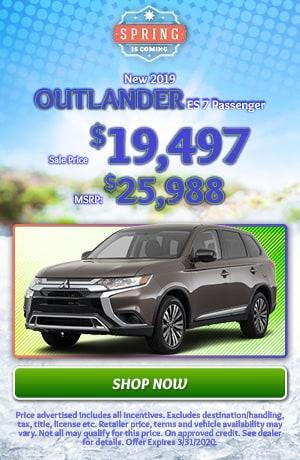 2019 Mitsubishi Outlander - March Offer