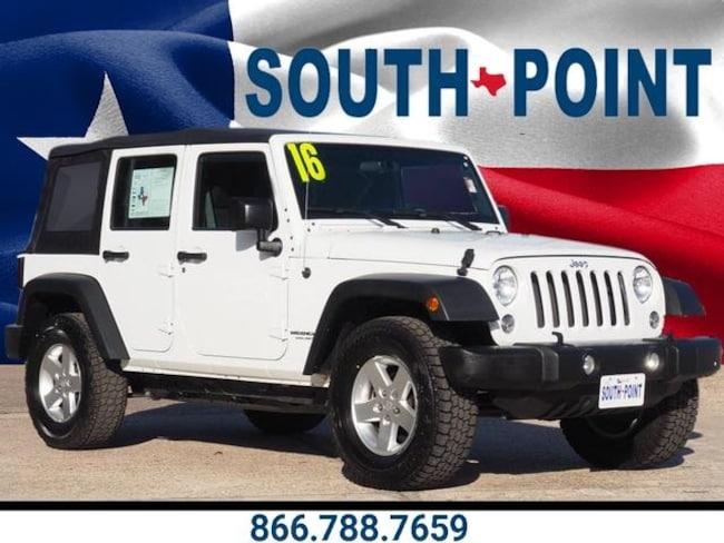 Used 2016 Jeep Wrangler JK Unlimited Sport 4X4 SUV in Austin, TX