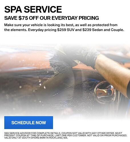 SPA SERVICE - $75 OFF